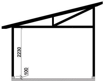 Våra garage - Enkelgarage med pulpettak, takutformning
