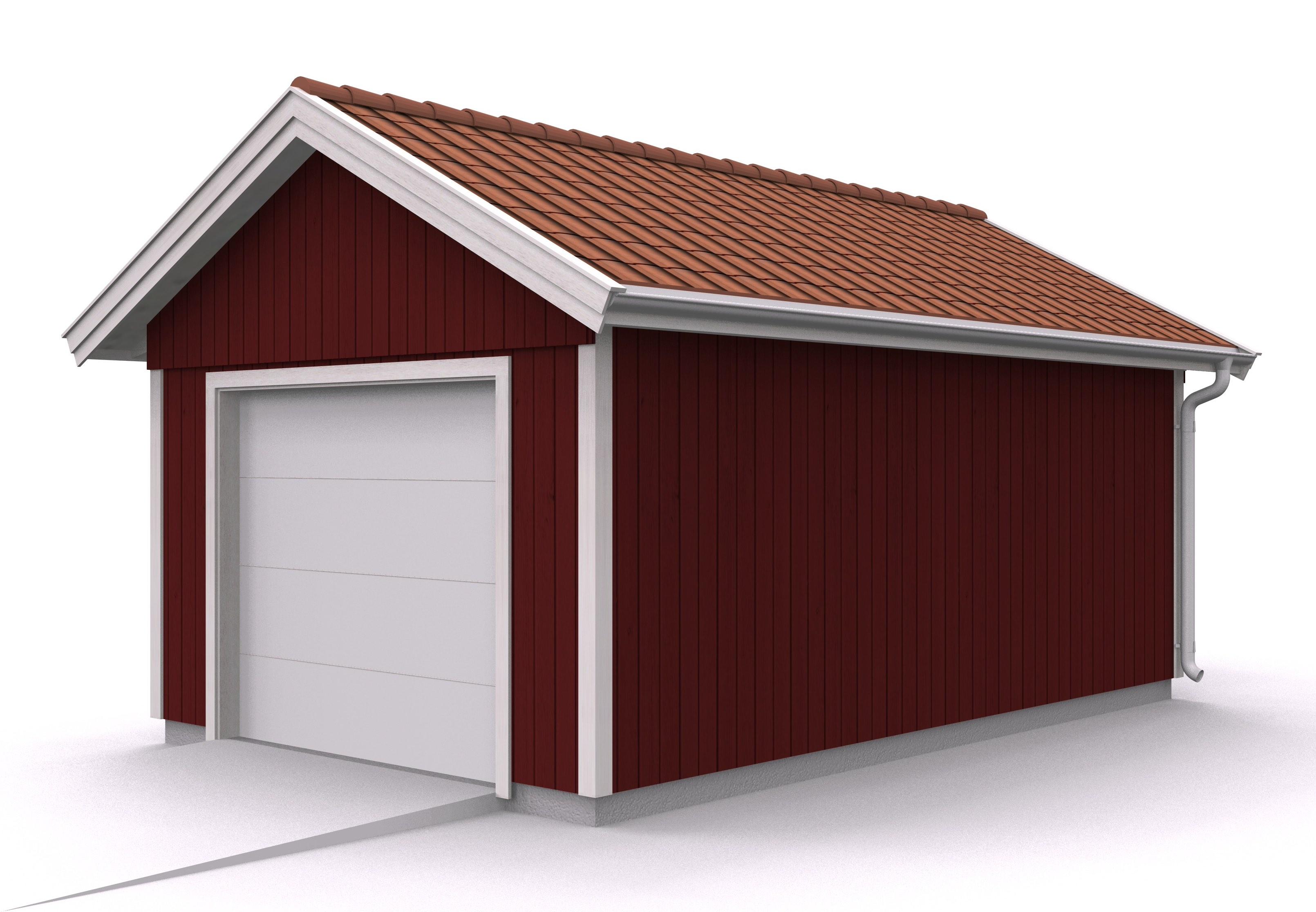 Våra garage - Enkelgarage med saxtakstol