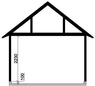 Våra garage - Enkelgarage med loft, takutformning sadeltak