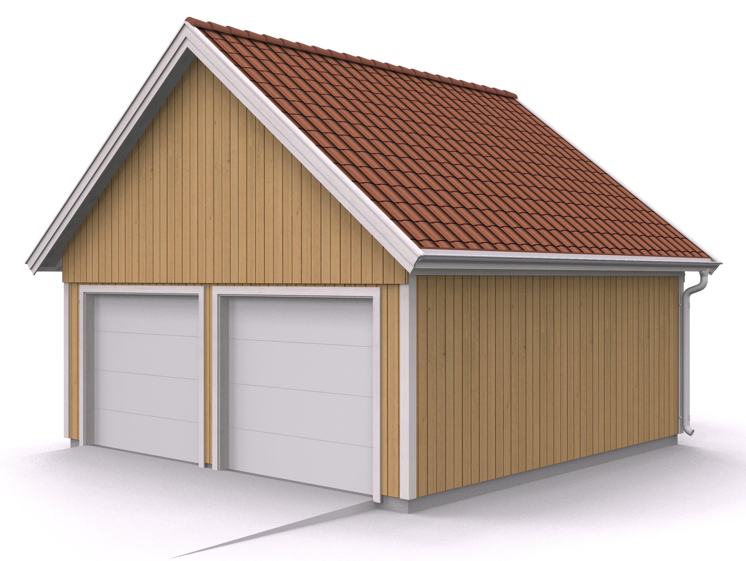 bygga garage lösvirke ritning