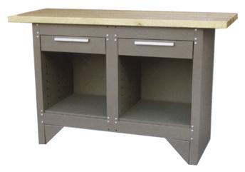Toppen Arbetsbänk med 2 kullagrade lådor — Mellby Garage YH-77