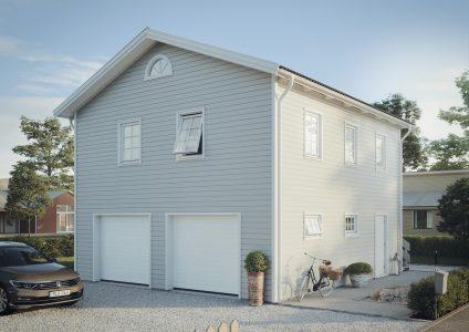 garage med lägenhet byggsats